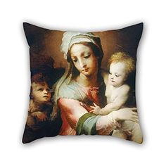 Oil Painting Domenico Beccafumi - Madonna And Child With Infant John The Baptist Throw Pillow Covers 18 X 18 Inches / 45 By 45 Cm For Gril Friend Bedroom Car Seat Son Home Kitchen With Twice Sides Throw Pillow Covers, Throw Pillows, Contour Pillow, Madonna And Child, John The Baptist, Home Kitchens, Car Seats, Sons, Infant