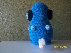 COMPLETED 54: GOAL: 649     Materials:  crochet hook, blue, tan, black, white and light blue yarn, white, black, lightand dark pink felt  ...