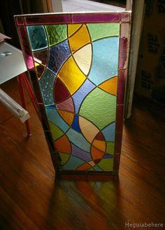 Vitral geometrico circulos#vitraux #vidrio #glass-art #vetrata-decorata