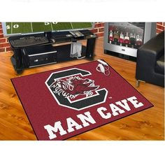 "South Carolina Gamecocks Man Cave All Star Area Rug Floor Mat 34"" X 45"" #Gamecocks #JockUniversity #GoCocks #SouthCarolinaGamecocks"