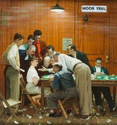 Norman Rockwell (1894–1978) - The Jury