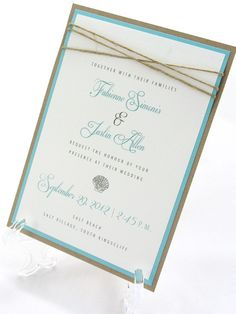 LOVE!!!   Beach Wedding Invitation  Seashells  by JacquelineAnnInvites Really cute