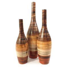 Trio Garrafas Quatro Cores - Vasos - https://www.carrodemola.com.br/produtos/109/trio-garrafas-quatro-cores-vasos