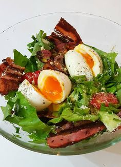 Σαλάτα με αυγά και μπέικον!! ~ ΜΑΓΕΙΡΙΚΗ ΚΑΙ ΣΥΝΤΑΓΕΣ 2 Cobb Salad, Ramen, Lunch, Dinner, Ethnic Recipes, Foodies, Dining, Eat Lunch, Food Dinners