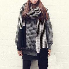 oversized striped scarf| free shipping!  pastel goth nu goth pastel grunge grunge harajuku fachin scarf accessories under20 under30 free shipping rosegal
