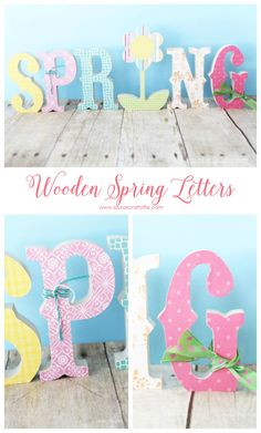 Wooden Spring Letter Decor - Laura's Crafty Life