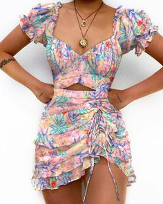 Girly Outfits, Cute Casual Outfits, Pretty Outfits, Pretty Dresses, Stylish Outfits, Mini Dresses, Plus Size Dresses, Look Fashion, Fashion Outfits