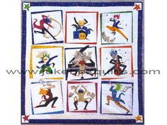 Pattern – Jazz Attack – Includes 9 Patterns & Directions for Full Quilt   Jukebox Quilts