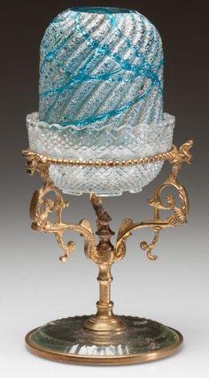 Glass Lamp Base, Victorian Lighting, Fairy Lamp, Blue Fairy, Lamp Bases, Love And Light, Fairy Lights, Lamp Light, Vintage Antiques