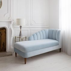 A touch of loveliness for your journey home in way of our divine Ariel Chaise in luxury velvet - Glacier. Sit back, admire and chill. Living Room Sofa Design, Living Room Modern, Living Room Decor, Bedroom Furniture, Home Furniture, Furniture Design, Chaise Lounge Bedroom, Lounge Sofa, Sofa Set