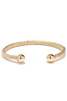 Round the Twist Gold Bracelet at Lulus.com!