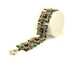 Bracelet Tutorial Triple-Contrast with Superduo and Round Beads
