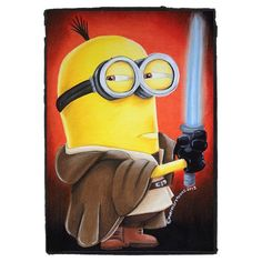 May the Minion be with You. Amor Minions, Cute Minions, Minions Despicable Me, Minions Quotes, Minions Images, Minion Pictures, Minion Rock, Minion Craft, Minion Characters