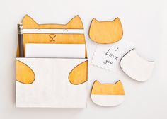 Fridge Magnets – Fridge magnets Cat, Yellow, gelb, White – a unique product by…