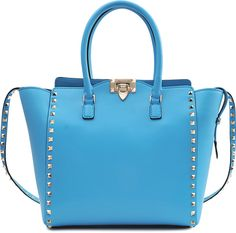 Valentino Rockstud North South Double Handle Bag