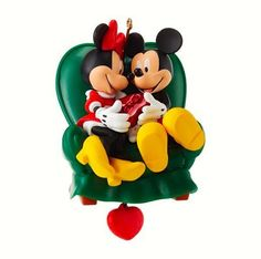 """New in Box, 2013 Hallmark Ornament, Disney Mickey and Minnie """"Two to a Chair"""""""