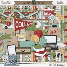Have you recently sent one of your kids off on the great college adventure? Then you'll want to pick up Off to College by Just For Fun Designs to scrap all those pictures I know you've taken!