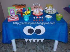 artes by Má: Festa - tema: monstrinhos = decoração e mesa