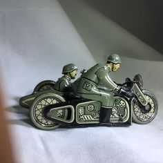 Vintage Wind Up Tin Toy CKO 342 Motorcycle 1936-1942 Scarce Age 77 Mint! Working