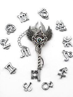 Zodiac Key Necklace by KeypersCove on Etsy