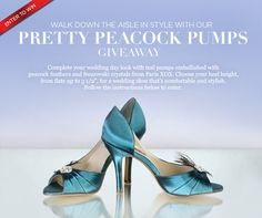 *This sweepstakes has ended*  Win gorgeous peacock teal shoes in the heel  height of your choice!