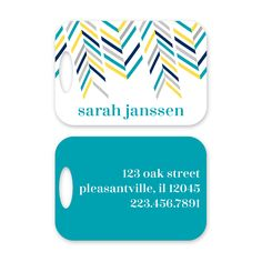 Modern Personalized Luggage Tag by Peony Hill Press. These make great gifts for grads, dads, moms, newlyweds and more! #peonyhillpress #php #luggage #luggagetag #baggage #baggagetag #gift #newlywed #kid #grad #modern #stripes #diagonal #popofcolor