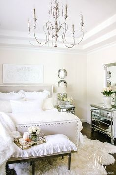Styled for Spring Home Tour Part 2 - Elegant Ruffle and Lace Spring Master Bedroom