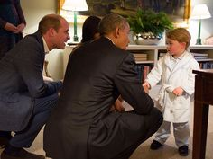 Prince George in His Pajamas Shaking Hands with President Obama Is the Greatest Moment in U.S.-British History http://www.people.com/people/package/article/0,,20395222_21001907,00.html