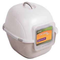 Favorite Portable Side Enter Covered Cat Litter Box, 2 Sizes >>> Visit the image link more details.