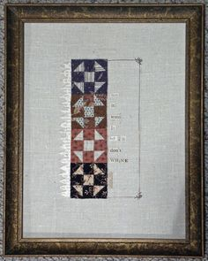 miniature quilt art – Page 15 – galloping pony studio Old Quilts, Small Quilts, Mini Quilts, Quilting Room, Hand Quilting, Modern Quilting, Primitive Quilts, Primitive Crafts, Dollhouse Quilt