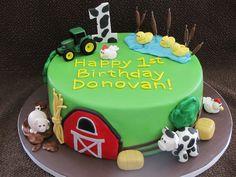 boy first birthday smash cake | Barnyard 1st Birthday Cake — Children's Birthday Cakes