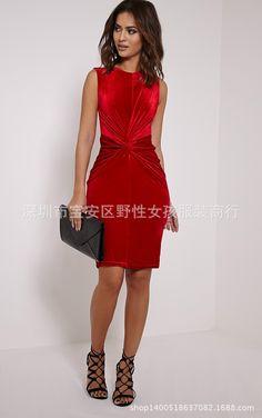 sleeveless women velvet bodycon dress draped waist lady nightclub dresses black red-in Dresses from Women's Clothing & Accessories on Aliexpress.com | Alibaba Group