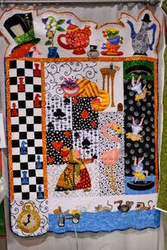 Alice in Wonderland Quilt from Portland quilting expo 2009.  Reminds me of watching this movie when I was a little girl.  ~Kelly