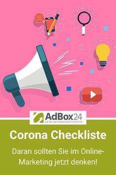 Corona Online-Marketing Checkliste – Daran sollten Sie jetzt denken! Wir haben für Sie eine Checkliste zum Download zusammengestellt, was es in der Corona-Krise im Online Marketing zu beachten gibt. Content Marketing, Online Marketing, Performance Marketing, Im Online, Google Ads, Budgeting, Abs, Trends, Corona