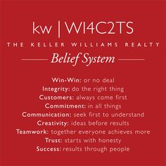 Our beliefs are the rules we live by and they dictate how we work together and will treat each other.