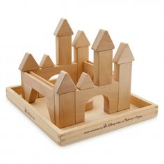 Melissa & Doug Building Stacking Block Set Made Exclusively For Disney - Castle Themed Wood Blocks Disney Toys, Baby Disney, Chateau Disney, Wooden Castle, Woodworking For Kids, Woodworking Plans, Woodworking Projects, Stacking Blocks, Disney Merchandise