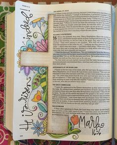 Easter Day Bible journal polkadotpaintbrush