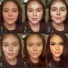 Guide on Makeup Contouring - - Guide on Makeup Contouring Beauty Makeup Hacks Ideas Wedding Makeup Looks for Women Makeup Tips Prom Mak. Le Contouring, Contour Makeup, Contouring And Highlighting, Eye Makeup, Hair Makeup, Contouring Tutorial, Liquid Contour, Prom Makeup, Makeup Blush