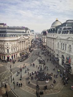Piccadilly Circus view, London, England.