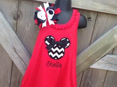 Personalized Chevron Minnie Mouse Dress by sewglamourouscreatio, $26.00