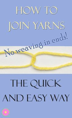 The quickest and easiest way to join new yarn in crochet or knitting. You have no yarn ends to weave in afterwards. Works in fine and medium weight yarns. Shown in detail how to continue when you run out of one ball of yarn. A great time-saving tip for crochet and knitting. #crochettutorial #knittingtips #joinyarn