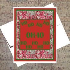 Ohio State Card Funny Christmas Card Buckeye by WhatACardCards