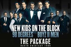 New Kids on the Block To Tour with 98 Degrees & Boyz II Men! Get ready music lovers: New Kids on the Block will be going on tour with 98 Degrees and Boyz II Men, beginning this summer! 98 Degrees and Boyz II Men will… The Block, Block Head, Donnie Wahlberg, Jordan Knight, American Tours, Man Set, Backstreet Boys, New Kids, Parks