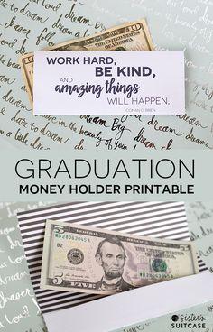 Graduation Money Holder Printable - My Sister's Suitcase - Packed with Creativity