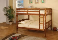 Twin/Twin Bunk Bed Catalina Collection Cm-Bk606A
