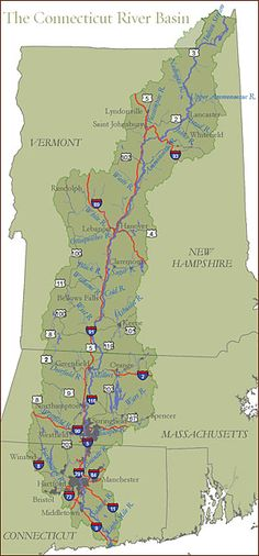 CT River watershed map