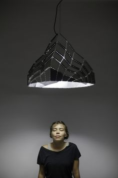 thedesignwalker: Aryeh Kornfeld Discover more… Design Light, Lamp Design, Lighting Design, Lighting Ideas, Paper Light, Light Art, Ceiling Lamp, Ceiling Lights, Pendant Lamp