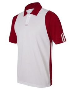 ebc4f4334 Men Golf Clothing     adidas Mens Climalite Colorblock A77 DriFit Polo  Sport Shirts XXLarge