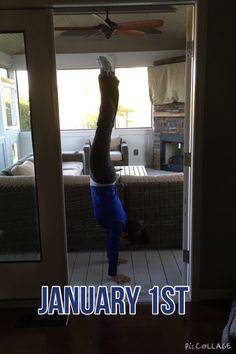 January 1st handstand