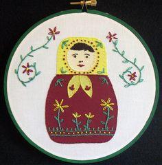 Matroyshka #embroidery #felt #nestlingdolls #dolls